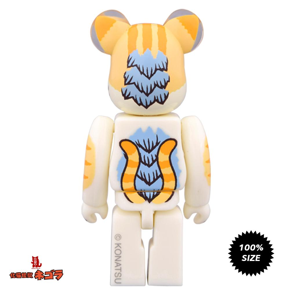 Negora Kaiju Cat Odd Eye 100% Bearbrick by Konatsu x Medicom Toy