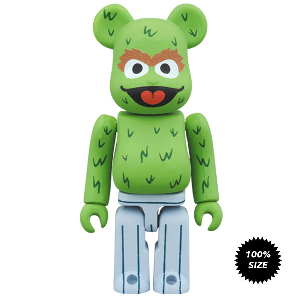 Oscar The Grouch Sesame Street 100% Bearbrick - Pre-order