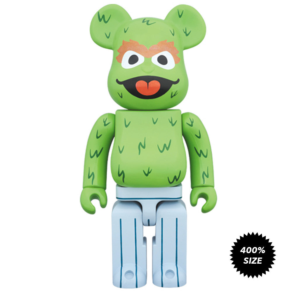 Oscar The Grouch Sesame Street 400% Bearbrick - Pre-order