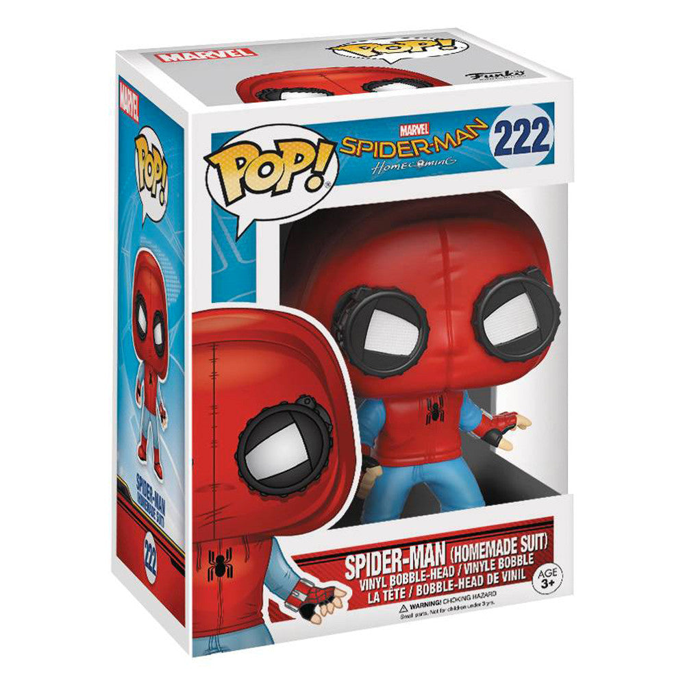 Spiderman: Homecoming Spiderman Homemade Suit Pop Vinyl Figure
