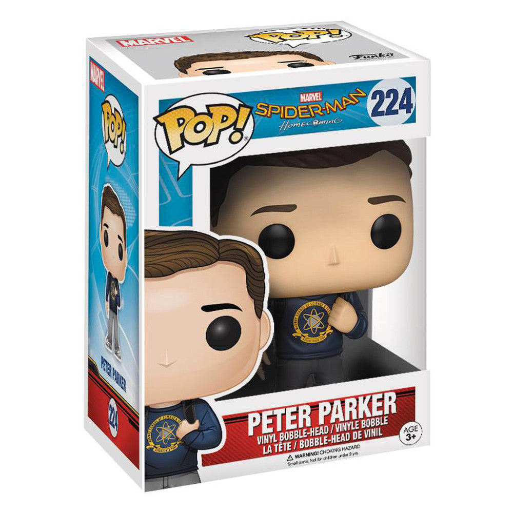 Spiderman: Homecoming Peter Parker Pop Vinyl Figure