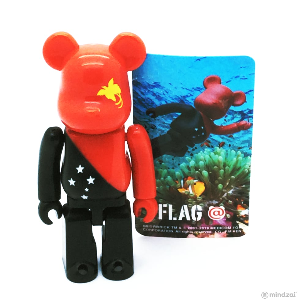 Bearbrick Series 39 - Papua New Guinea (Flag)