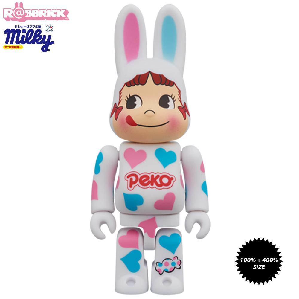 *Pre-order* Kigurumi Peko Chan Heart 100% and 400% Rabbrick Bearbrick Set by Fujiya x Medicom Toy