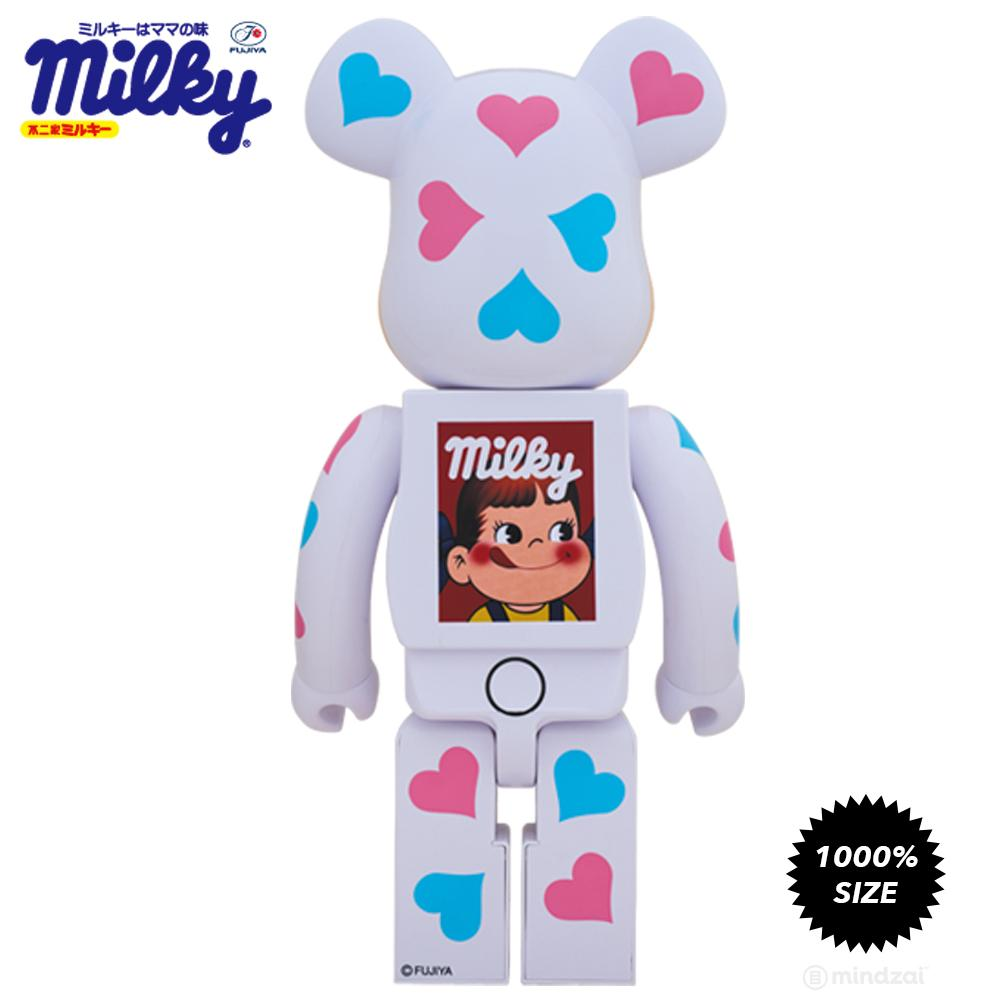Milky Peko Chan Hearts Kigurimi 1000% Bearbrick by Medicom Toy