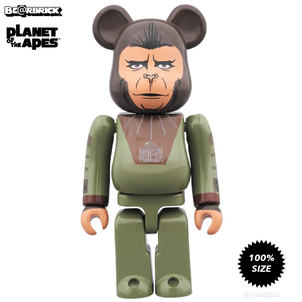 Planet Of The Apes Cornelius and Zira 100% Bearbrick 2-Pack
