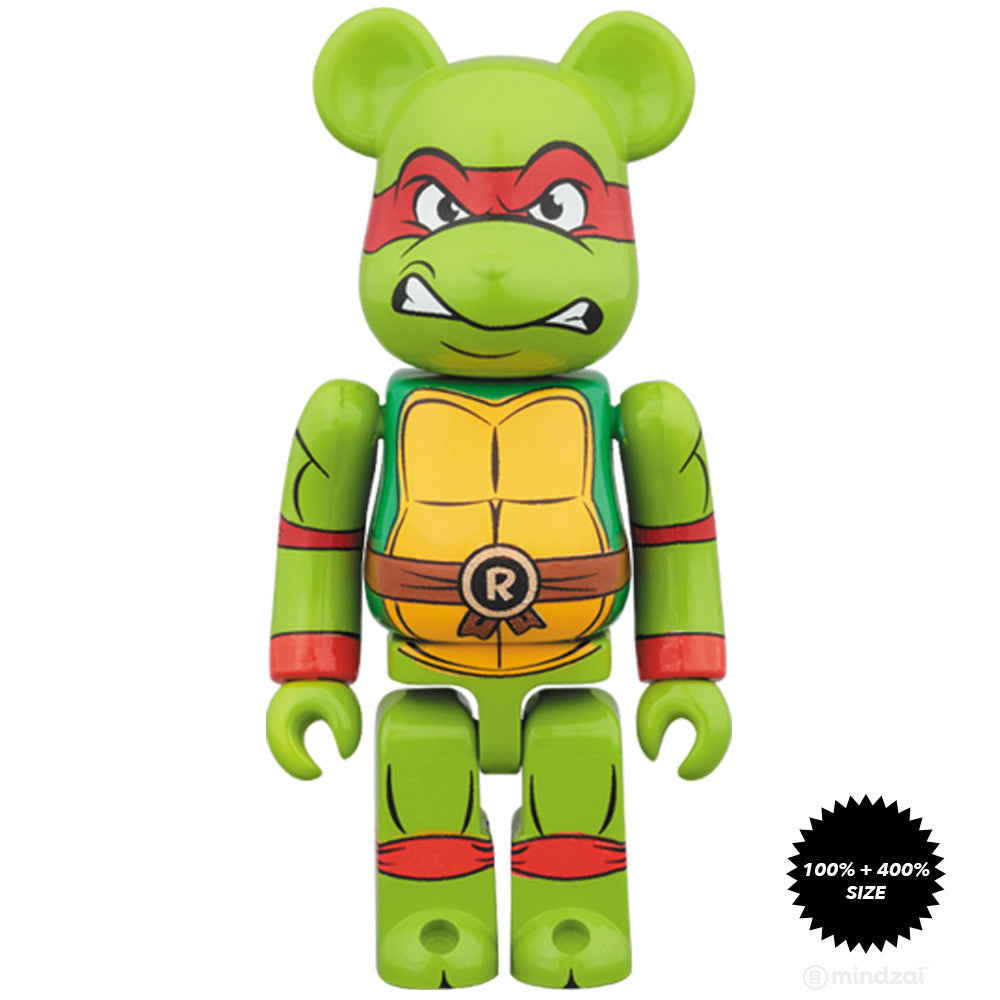 Raphael TMNT 100% and 400% Bearbrick Set