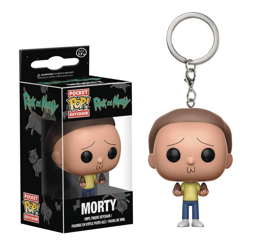 Morty Rick and Morty Pocket Pop Keychain