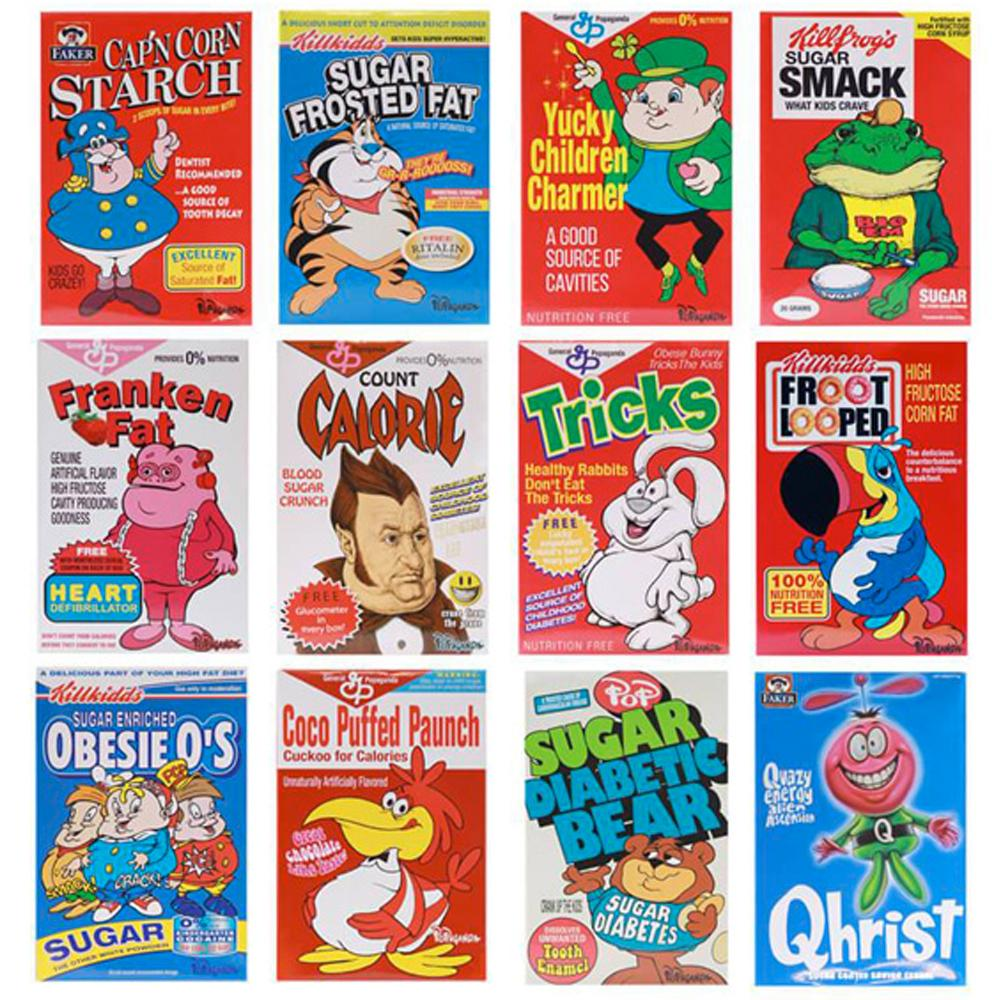 "Cereal Killers 3"" Inch Mini Figures by Ron English"