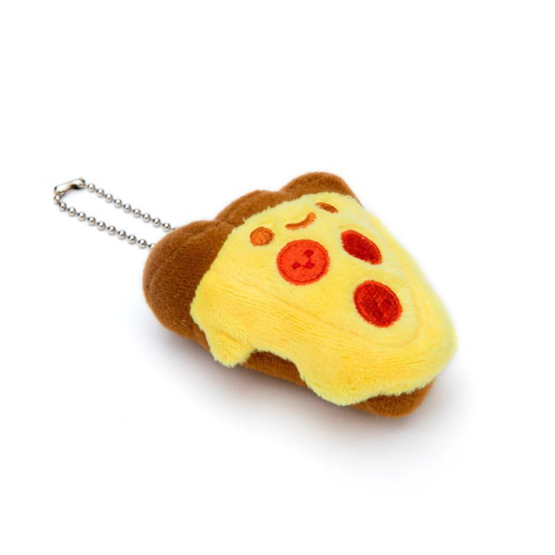 Kawaii Pizza Plush Charm by 100% Soft