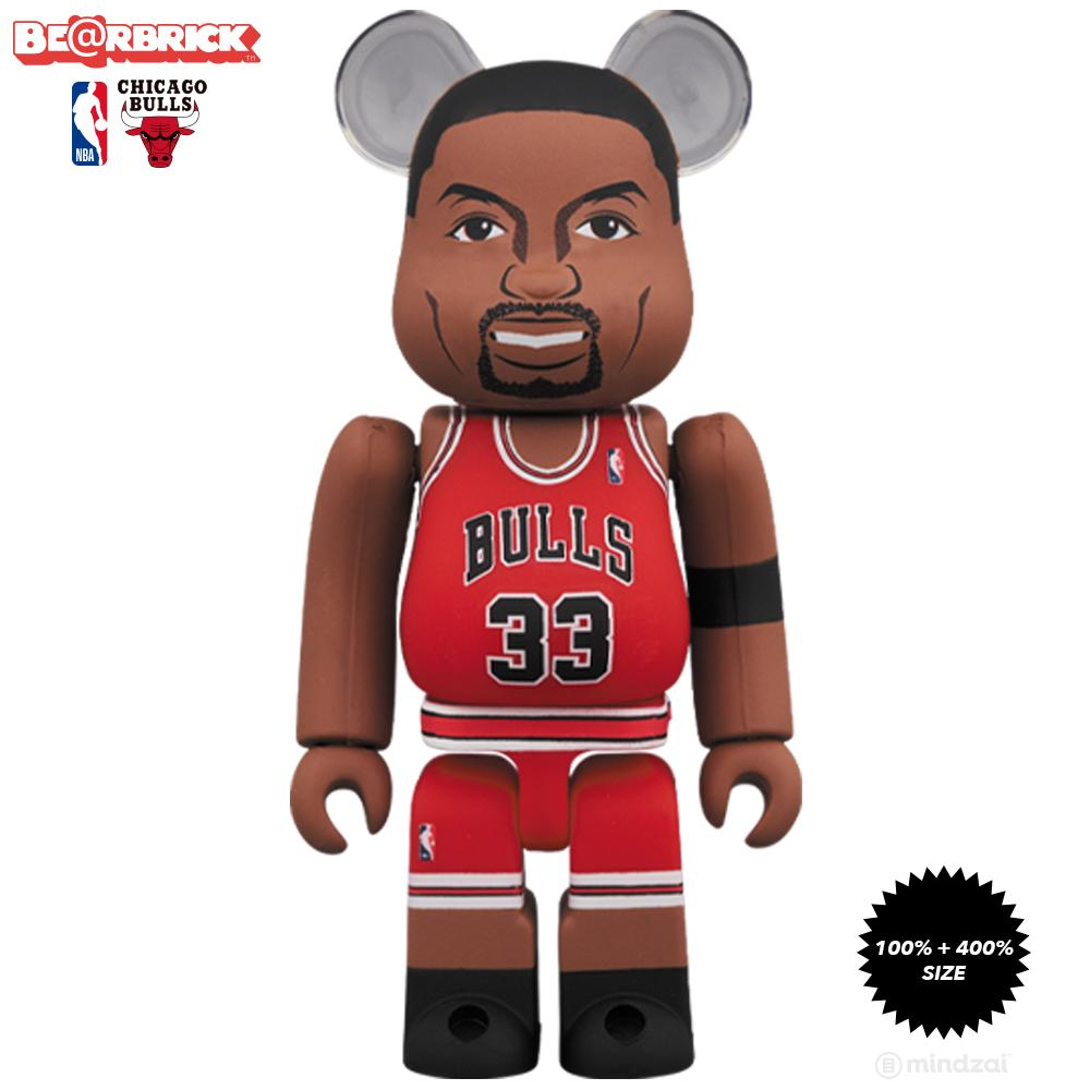 *Pre-order* Scottie Pippen Chicago Bulls 100% + 400% Bearbrick Set by Medicom Toy x NBA