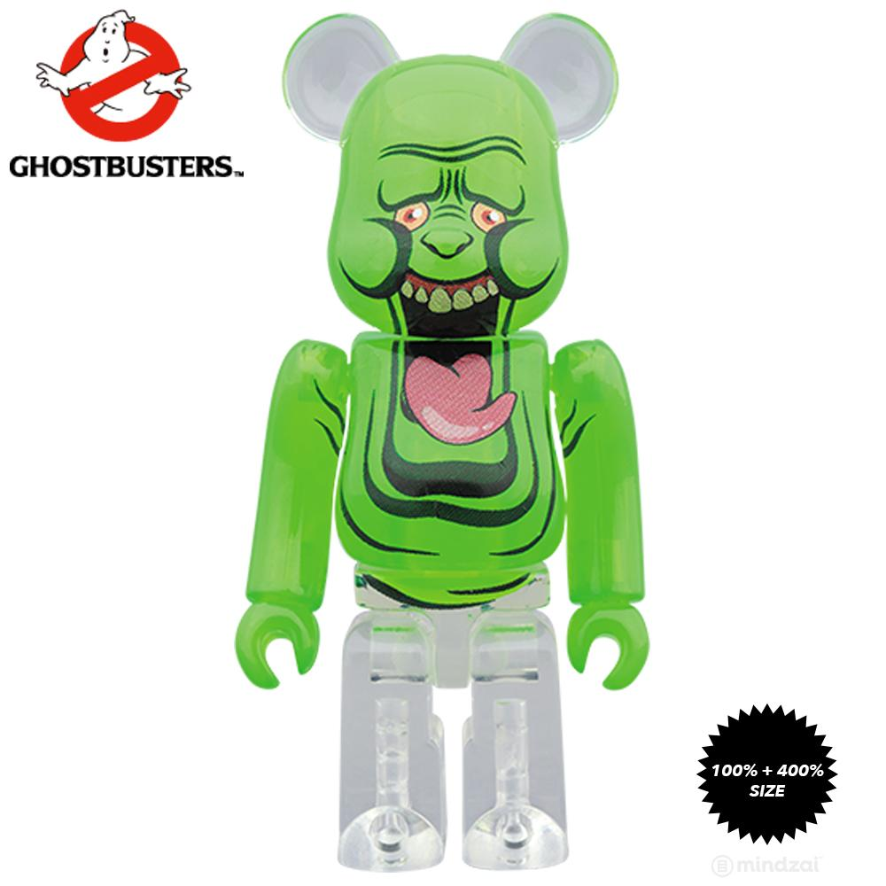 *Pre-order* Ghostbusters Slimer the Green Ghost 100% + 400% Bearbrick Set by Medicom Toy
