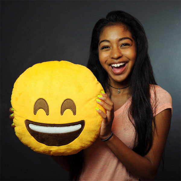 Smile Emoji Plush Pillow by Throwboy - Mindzai  - 1