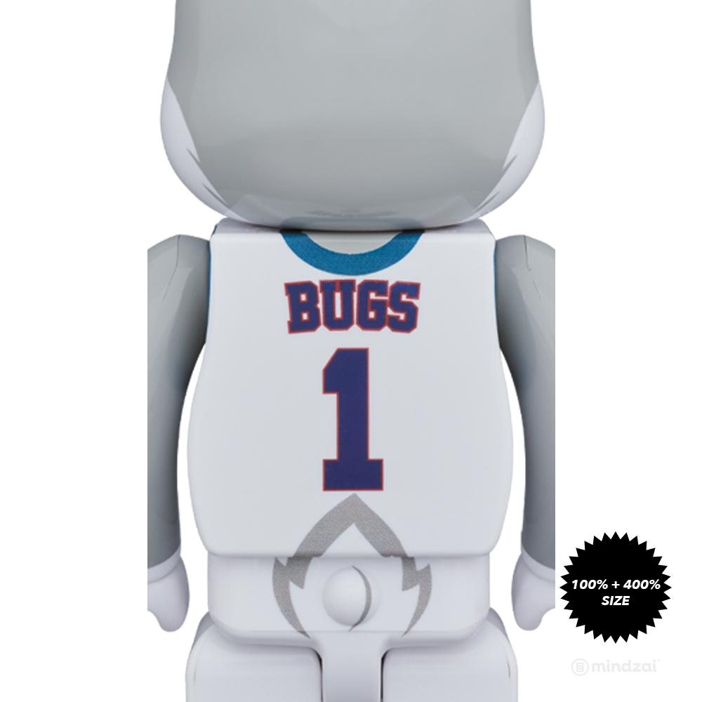 Space Jam Bugs Bunny 100% and 400% Rabbrick Set by Medicom Toy