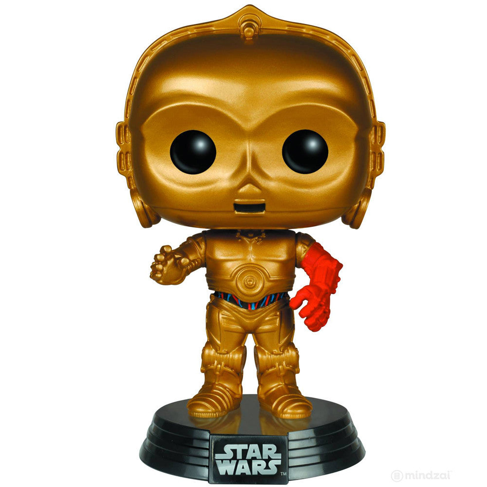 C-3PO Pop Star Wars The Force Awakens Vinyl Bobblehead Figure by Funko - Mindzai