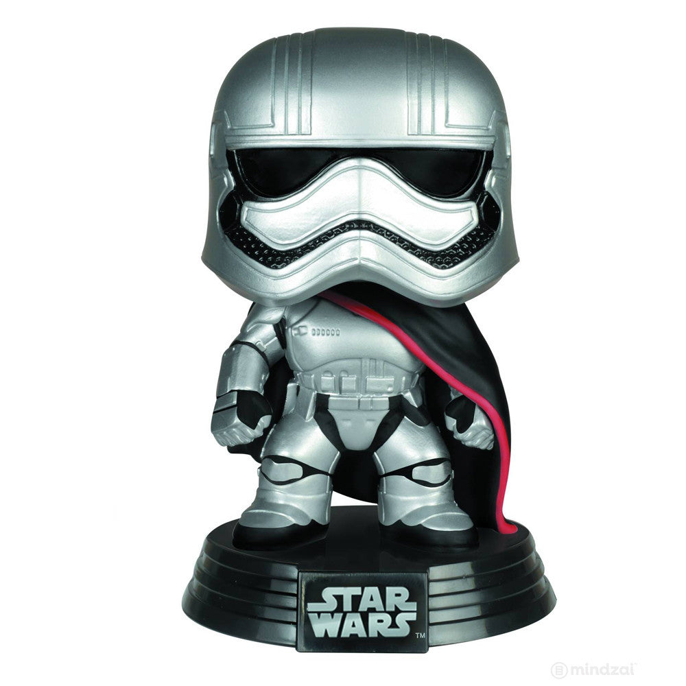 Captain Phasma Pop Star Wars Vinyl Bobblehead Figure by Funko - Mindzai