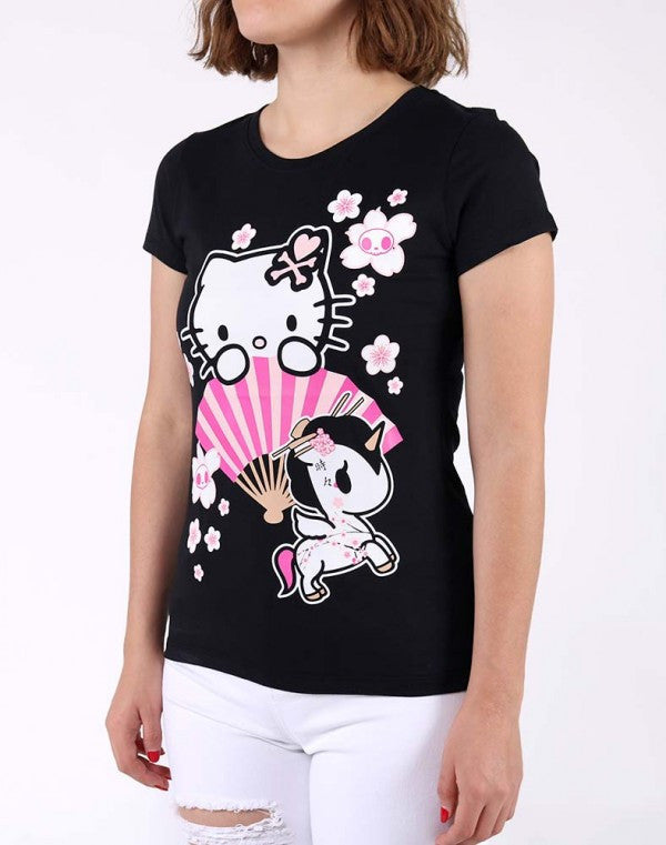 Hello Sakura Kitty T-shirt by Tokidoki - Mindzai  - 1