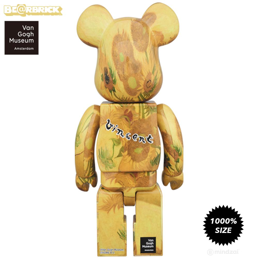 *Pre-order* Sunflowers 1000% Bearbrick by Vincent Van Gogh Museum x Medicom Toy