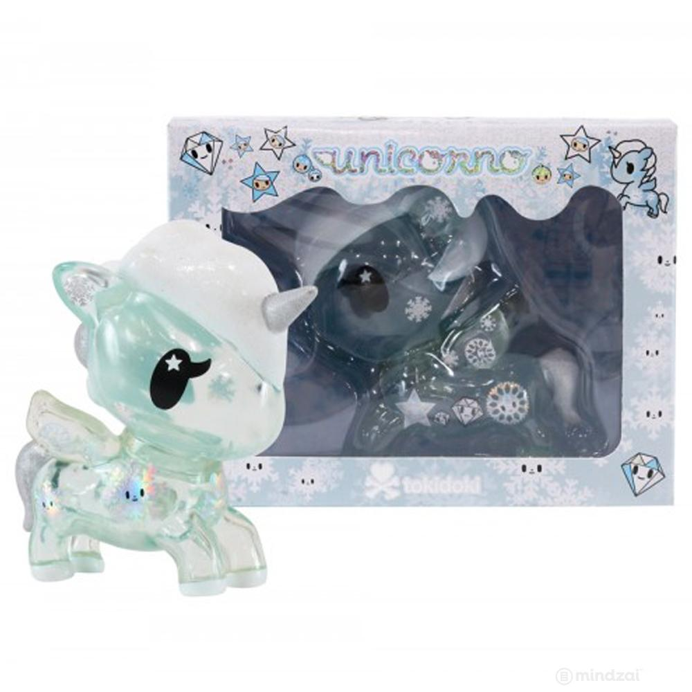 "Yuki Holiday Unicorno Clear Blue 5"" inch Vinyl Toy"