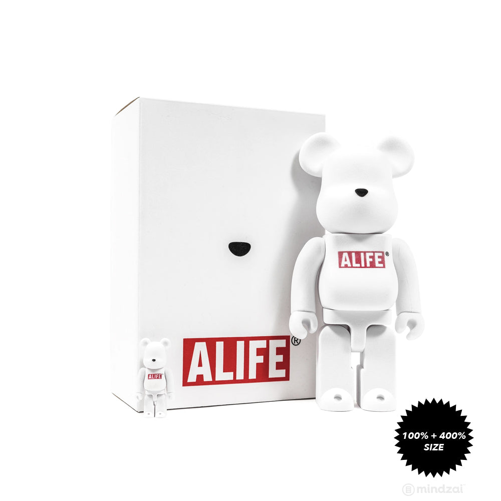 Alife 100% + 400% Bearbrick Set by Medicom Toy