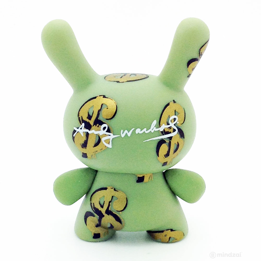 Warhol Mini Dunny Series Blind Box by Andy Warhol x Kidrobot - Dollar Signs (Case Exclusive)