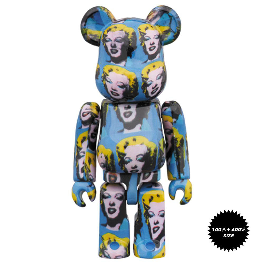 *Pre-order* Andy Warhol Marilyn Monroe 100% + 400% Bearbrick Set by Medicom Toy x Warhol