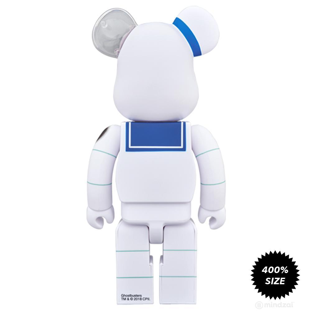 Angry Face Stay Puft Marshmallow Man 400% Bearbrick by Medicom Toy - Pre-order
