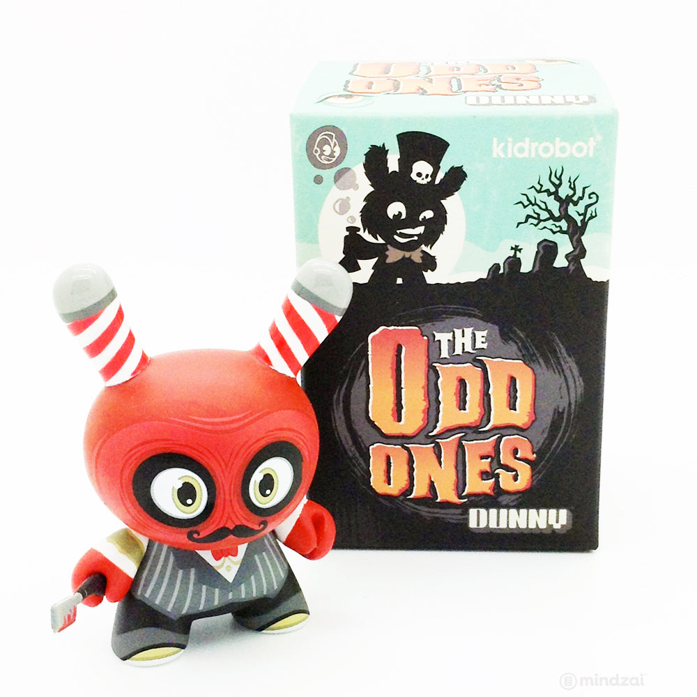 The Odd Ones Dunny Blind Box Series - Bloody Argh Barber (Case Exclusive)