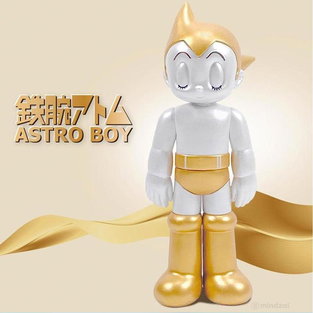 Astro Boy Closed Eyes (Gold and Silver) Set of 2 Figures by ToyQube x Tezuka Productions