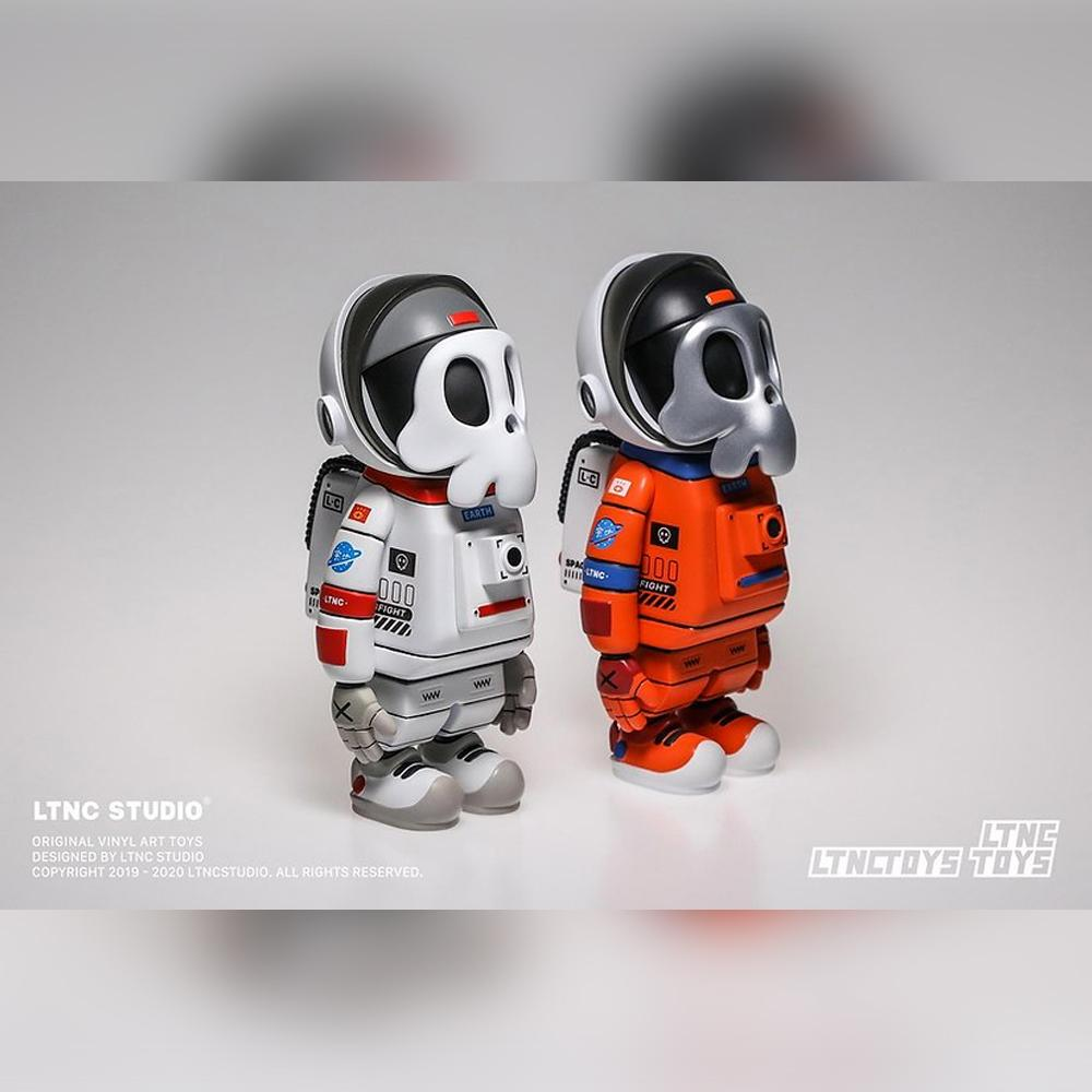 Astrodead Orange Art Toy Figure by LTNC Studio