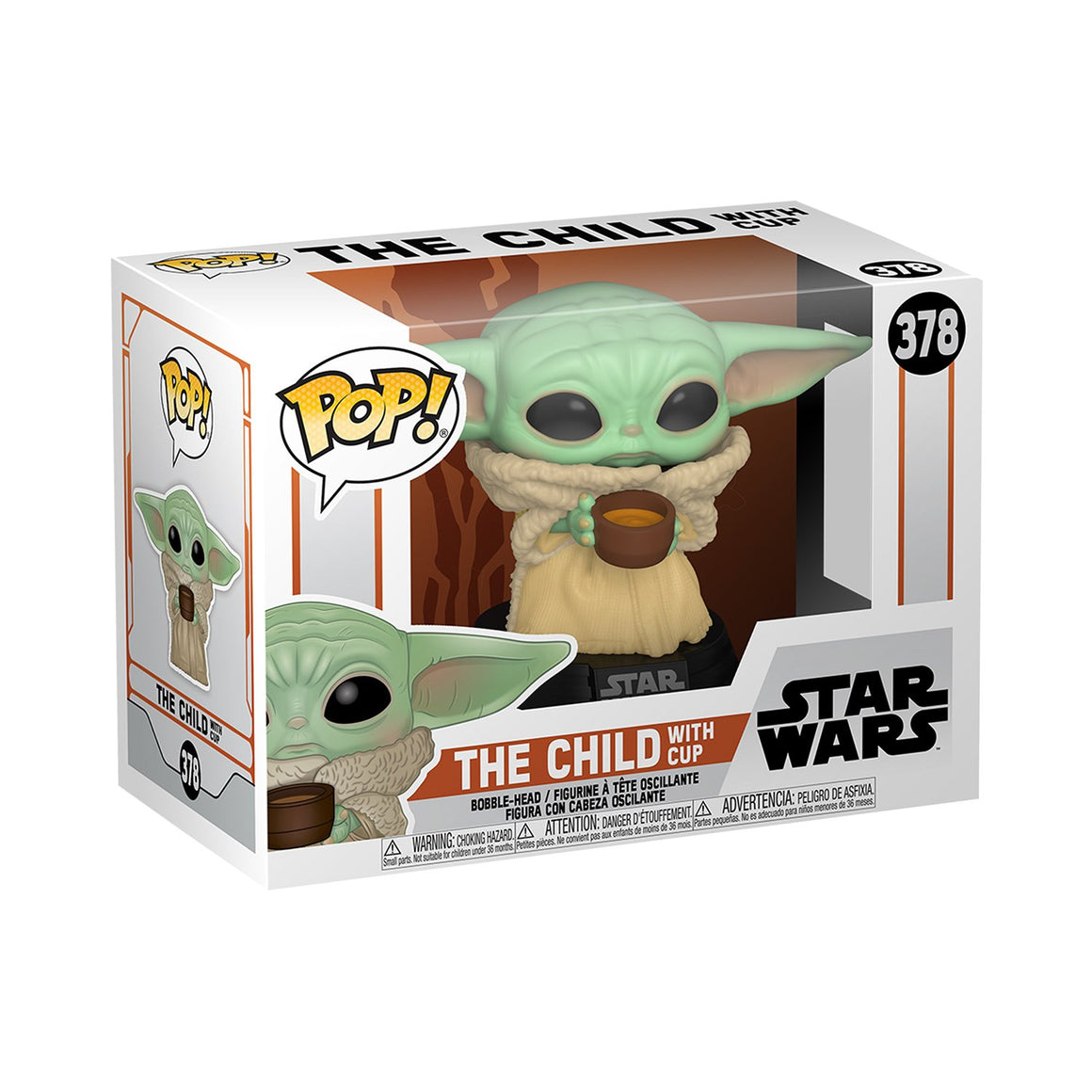 Star Wars Mandalorian The Child with Cup POP Toy Figure by Funko