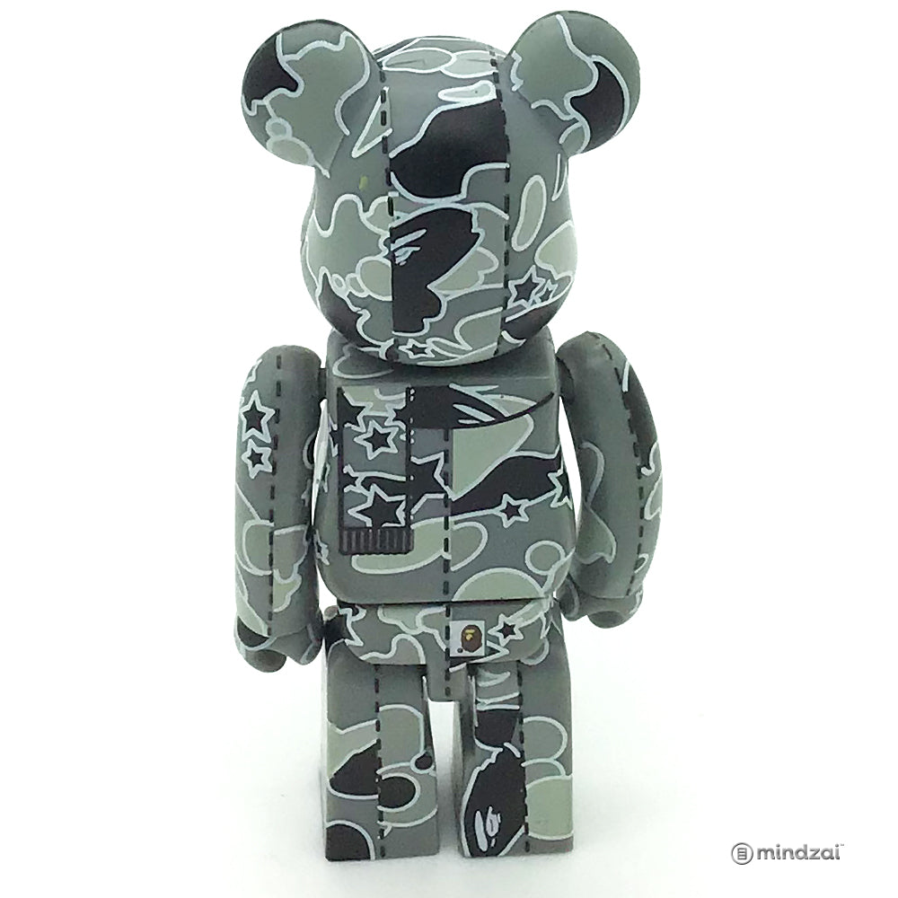 BAPE Play Series 2 Bearbrick - Bape Camo Star Grey 100% Size
