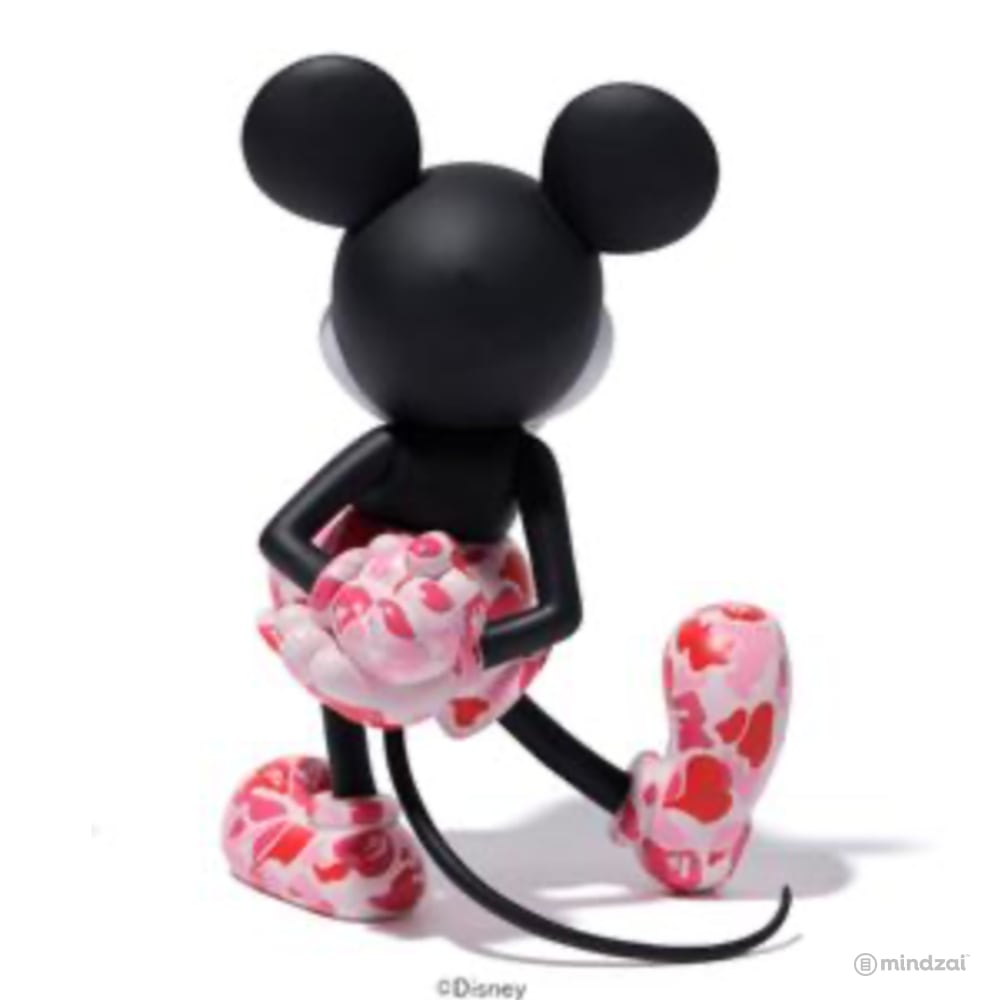 BAPE Mickey Mouse Vinyl Collectible Dolls VCD by Medicom Toy - Pink