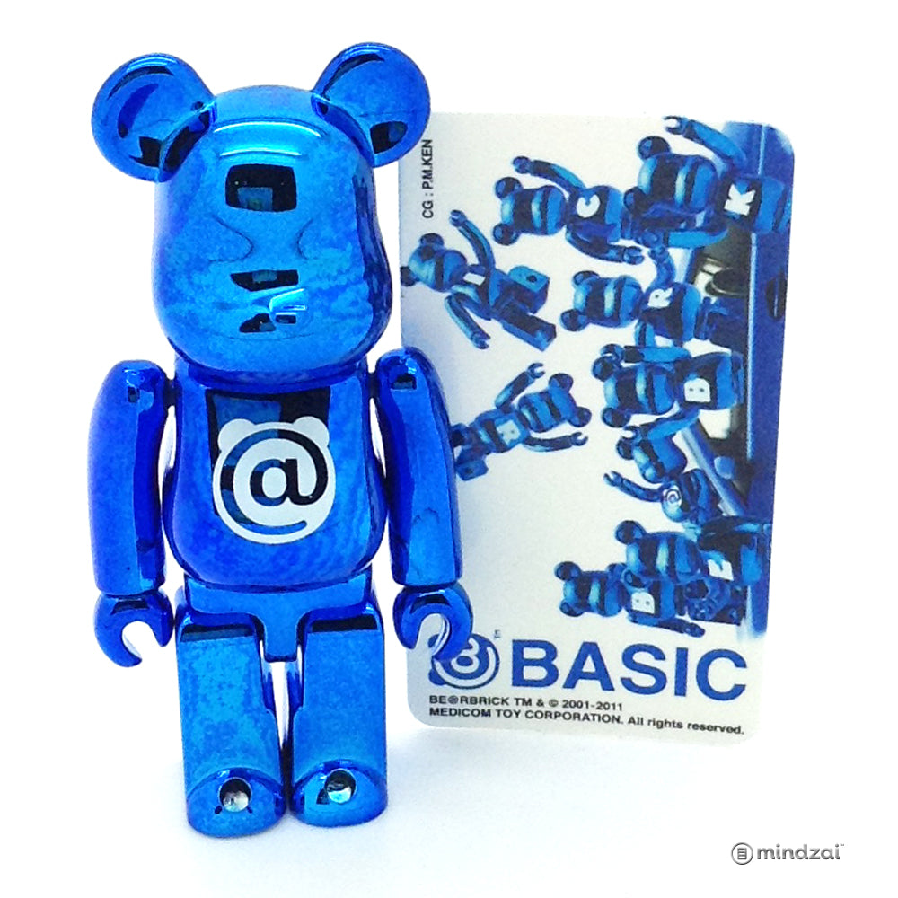 Bearbrick Series 23 - Basic Letter @ (Metallic Blue)