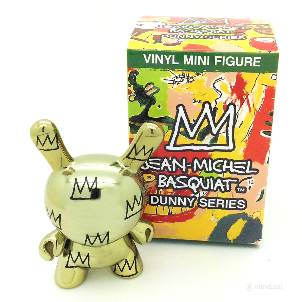 Jean Michel Basquiat Dunny by Kidrobot - Gold Crown Pattern (Case Exclusive)
