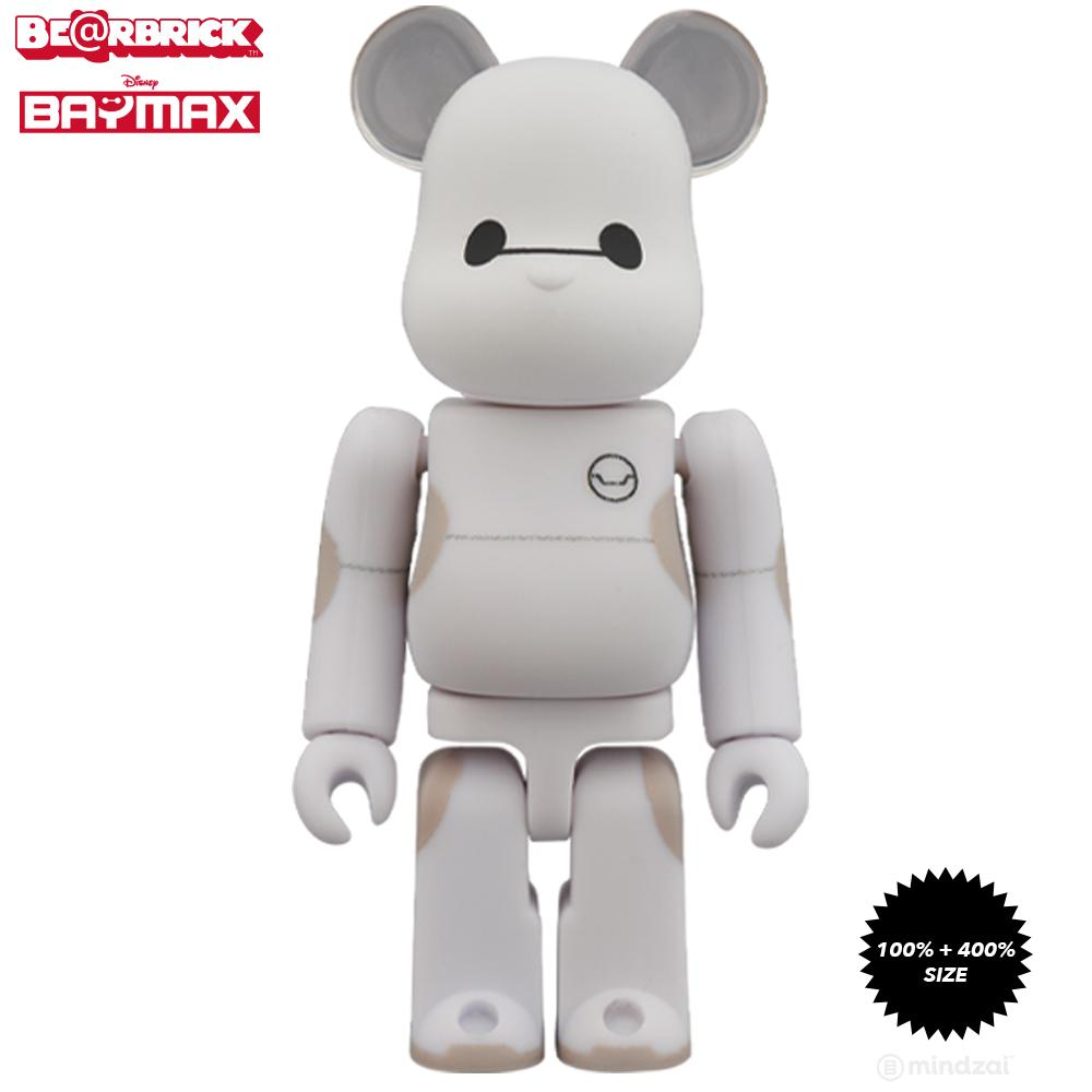 *Pre-order* Baymax Big Hero Six 100% + 400% Bearbrick Set by Disney x Medicom Toy