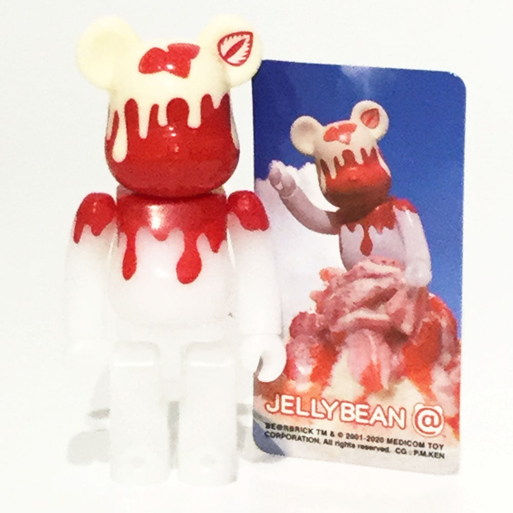 Bearbrick Series 40 - Strawberry Flavoured Shaved Ice (Jellybean) 100% Bearbrick