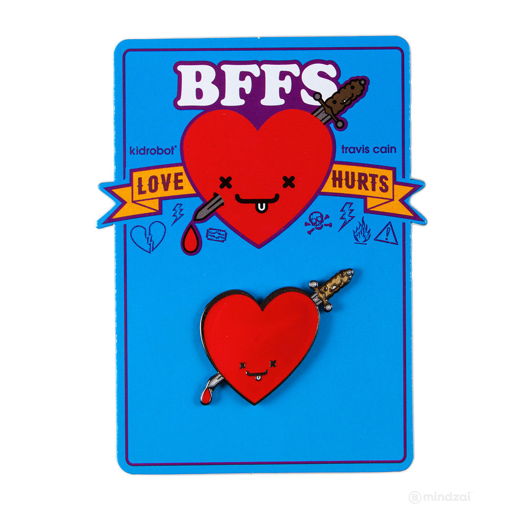 BFFS Jimmy and Ice Enamel Pin by Kidrobot x Travis Cain - Pre-order - Mindzai  - 1