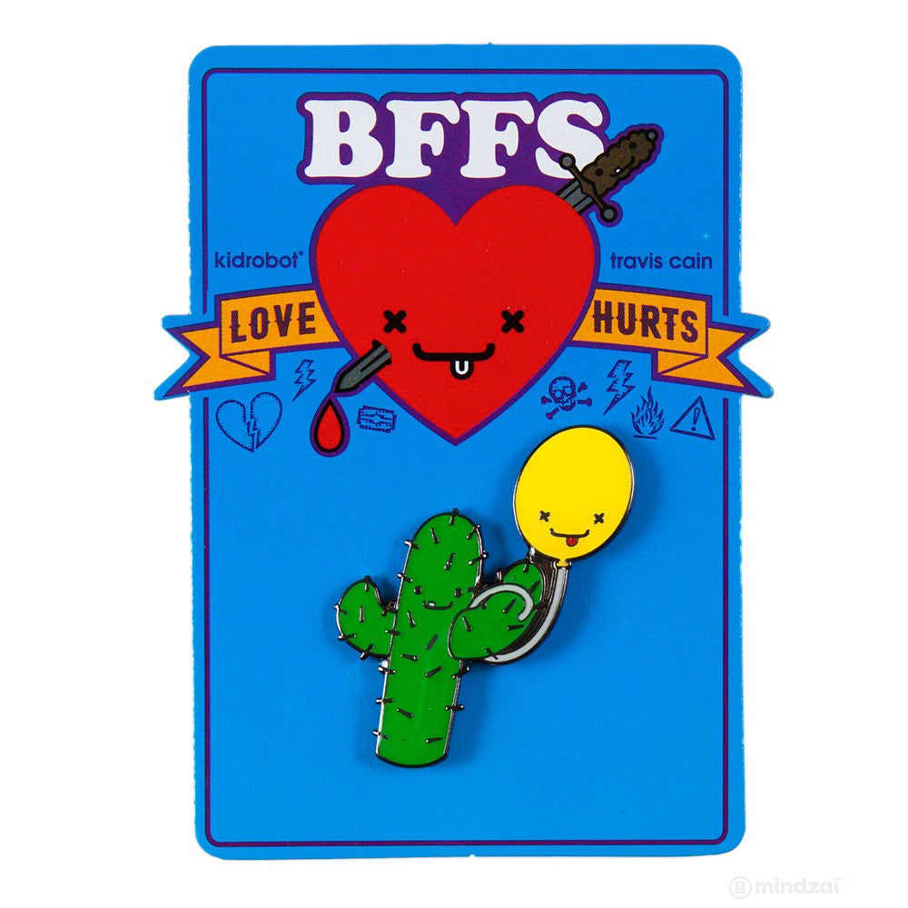BFFS Prickles and Bob Enamel Pin by Kidrobot x Travis Cain - Pre-order - Mindzai  - 1
