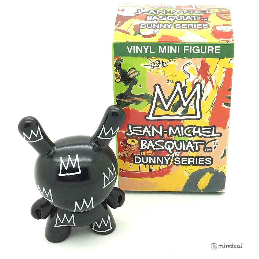 Jean Michel Basquiat Dunny Blind Box Minis Series - Black Crown Pattern Dunny