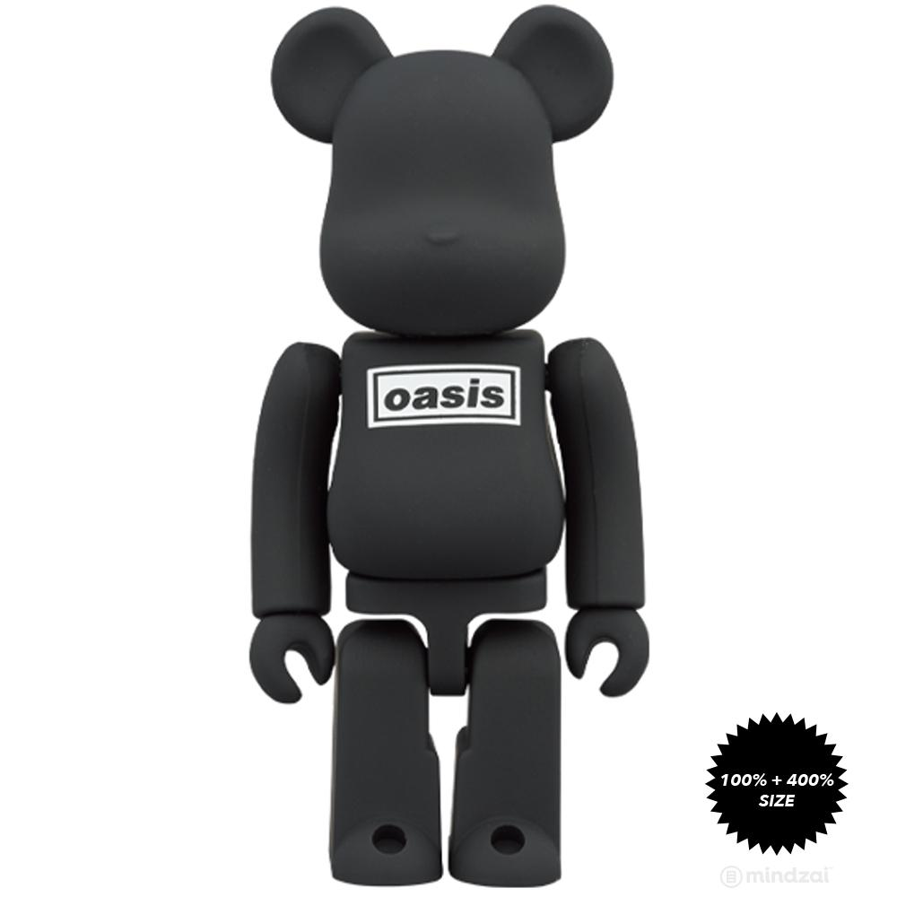 *Pre-order* Oasis - Black Rubber Coating Ver. 100% + 400% Bearbrick by Medicom Toy