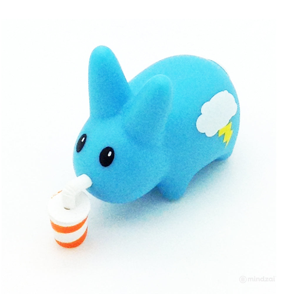 Happy Labbit Mini Series by Kidrobot - Blue Labbit with Drink