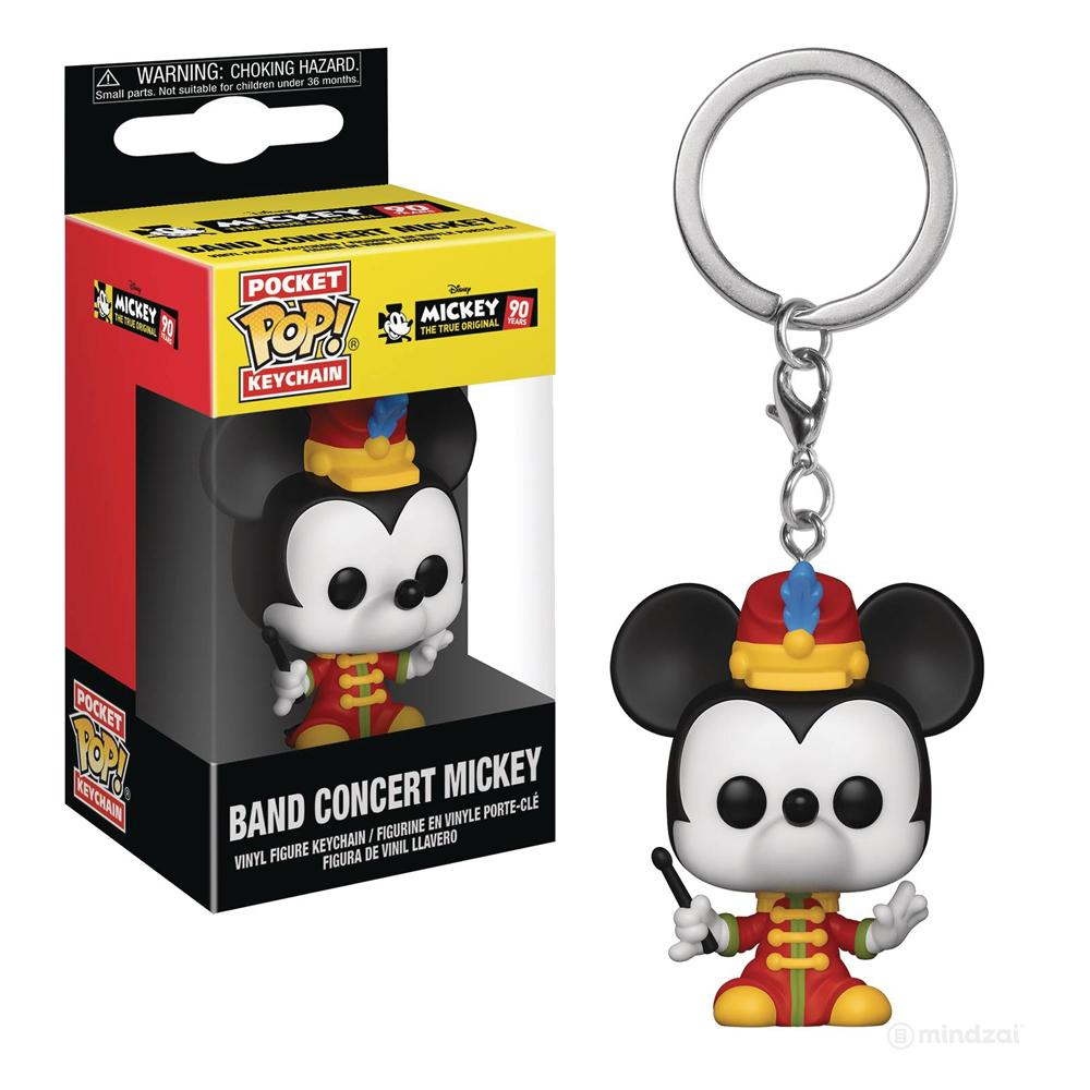 Mickey's 90th Anniversary Band Concert Mickey Pocket Pop Keychain
