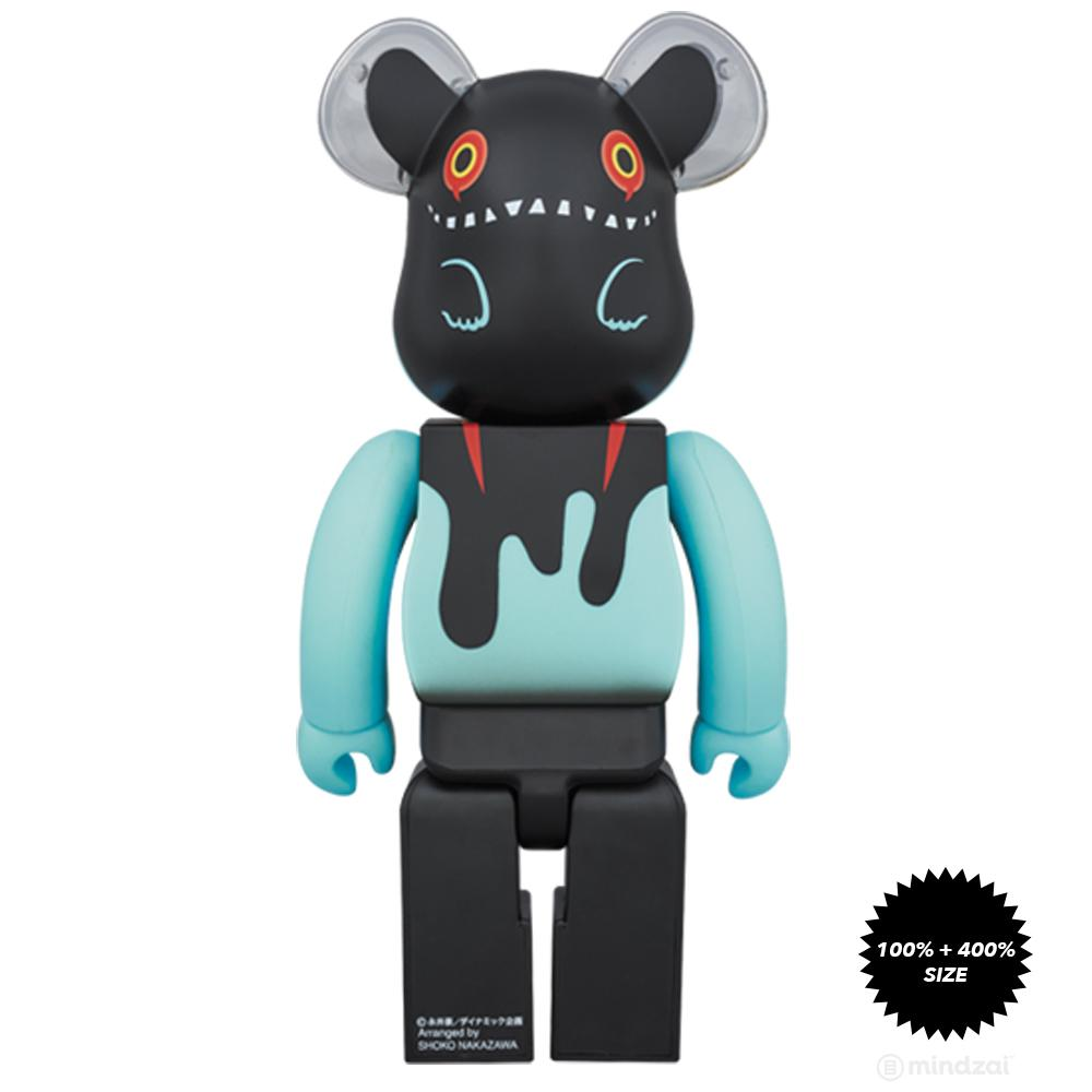 Byron Devilman 100% and 400% Bearbrick Set by Shoko Nakazawa x Medicom Toy