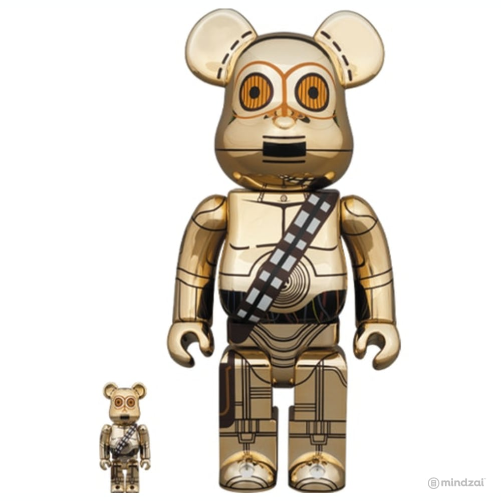 Star Wars: C-3PO (The Rise of Skywalker Ver.) 100% + 400% Bearbrick Set by Medicom