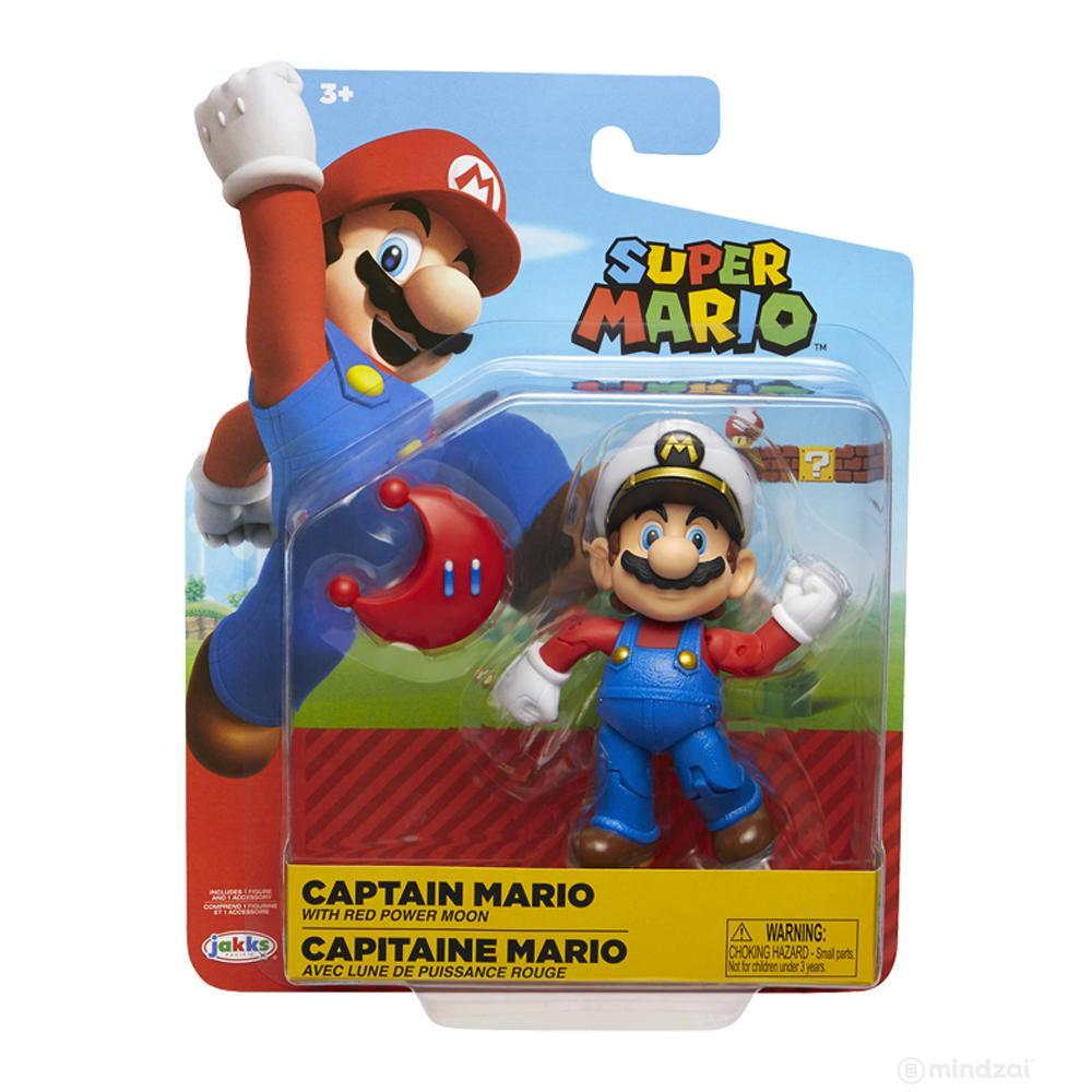 "World of Nintendo: Captain Mario 4"" Action Figure by Jakks Pacific"