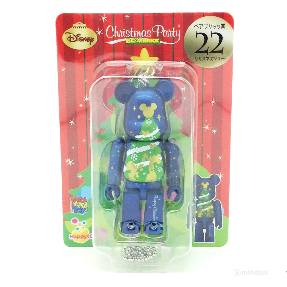 Disney Bearbrick Unbreakable - Happy Kuji # 22 - Christmas Tree with Mickey Mouse and Minnie Mouse 100% Size