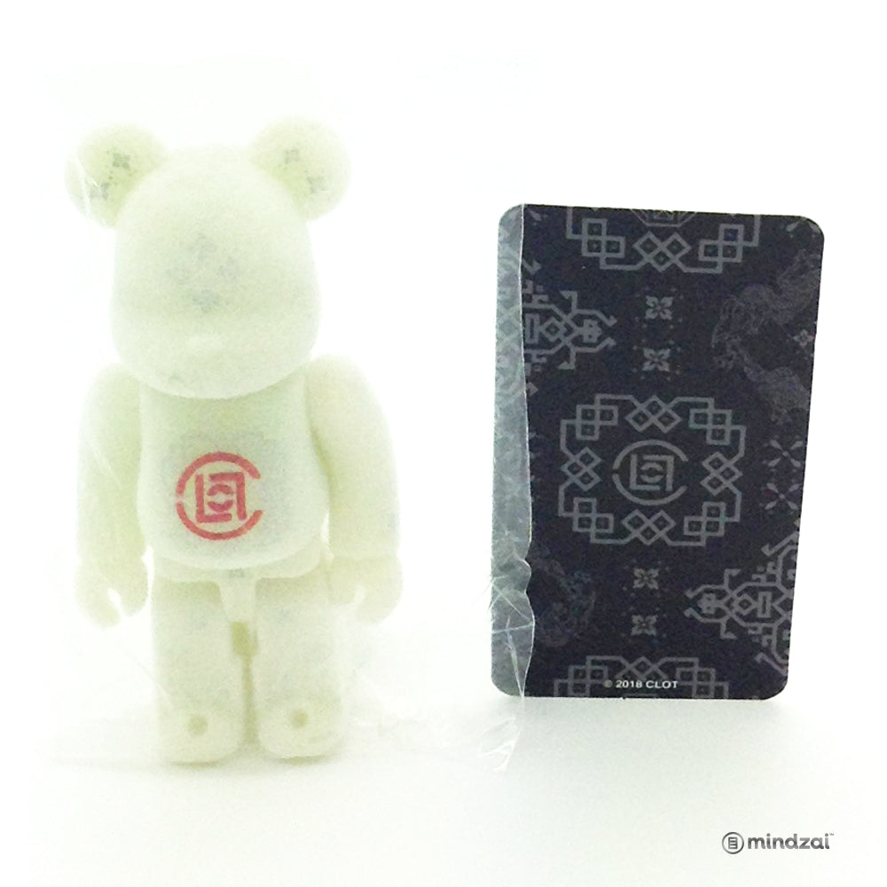 Bearbrick Series 36 - Clot - Flocked Glows in the Dark (GID) (Secret) (1/192)