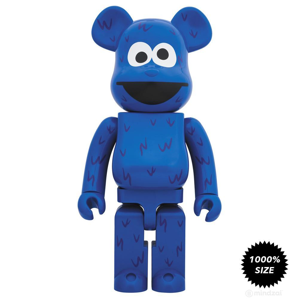 Sesame Street Cookie Monster 1000% Bearbrick by Medicom Toy - Pre-order