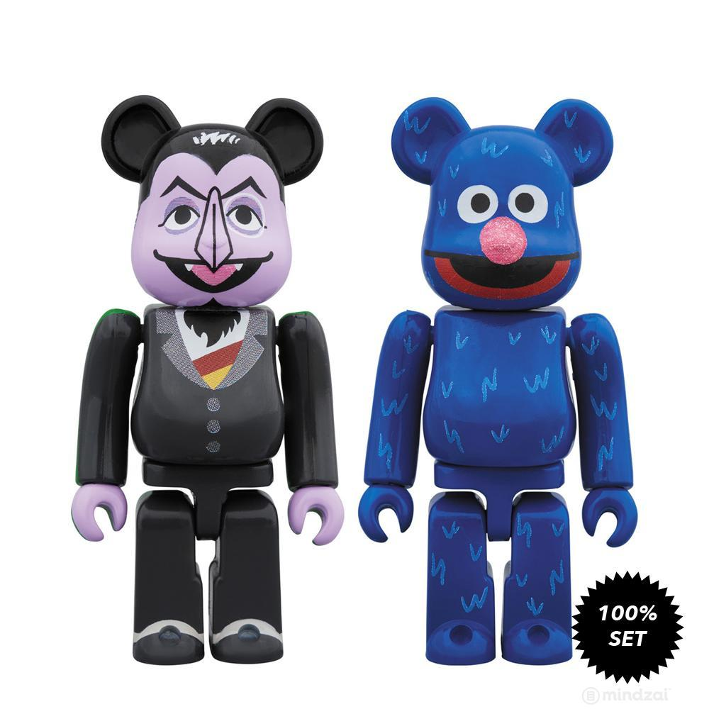 Sesame Street Count Von Count and Grover 100% Bearbrick 2