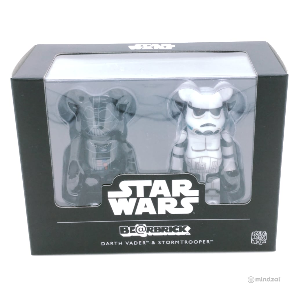 Star Wars Bearbrick: Darth Vader & Stormtrooper 100% Figure 2-Pack Set by Medicom Toy